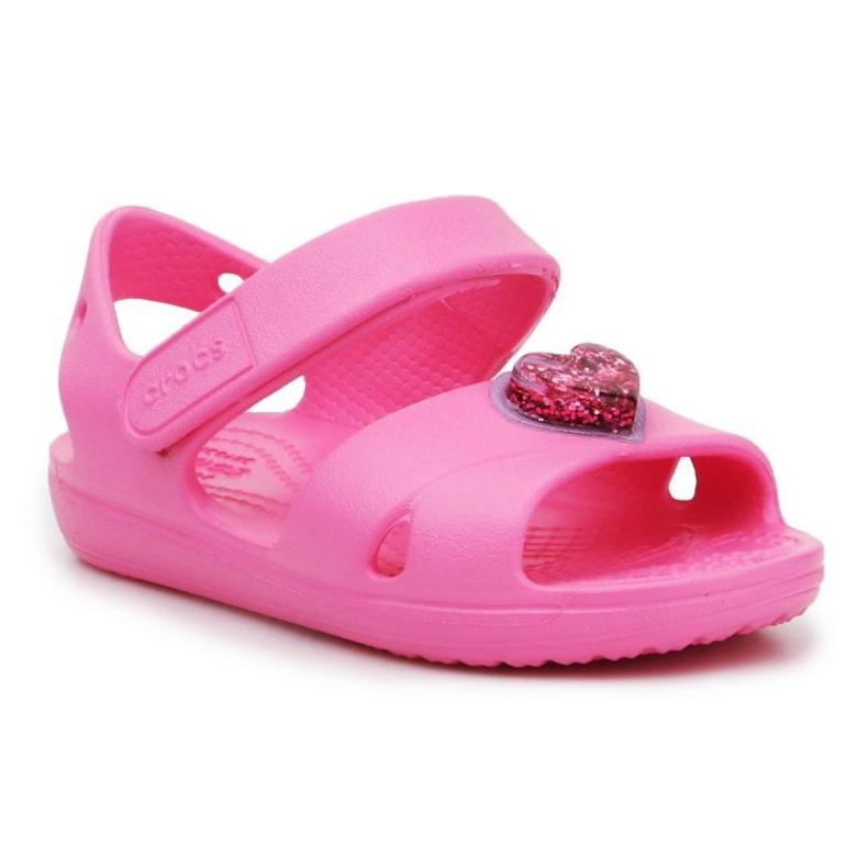 Sandały Crocs Classic Cross Strapcharm Sandal Jr 206947-669 różowe
