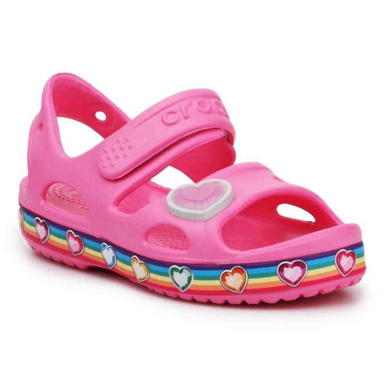 Sandały Crocs Fun Lab Rainbow Sandal Jr 206795-669 różowe
