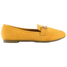 Anesia Paris Eleganckie Mokasyny żółte