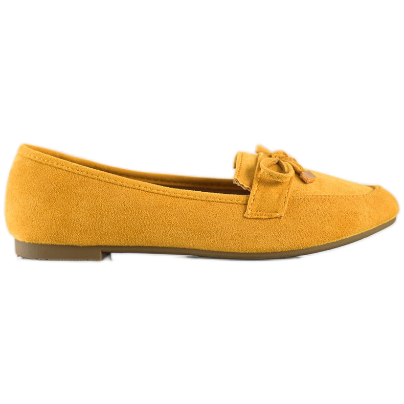 Anesia Paris Mokasyny Z Kokardą żółte