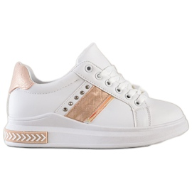 SHELOVET Casualowe Sneakersy białe