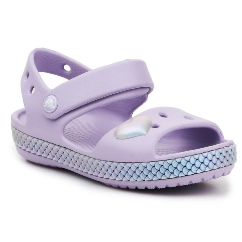 Sandały Crocs Crocband Imagination Sandal Ps K 206145-530 fioletowe