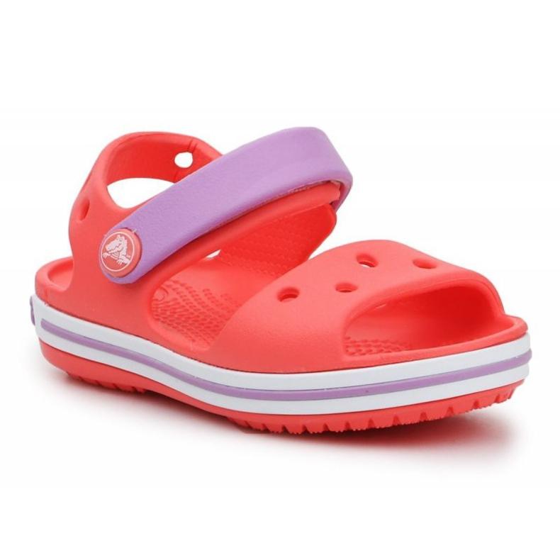 Sandały Crocs Crocband Sandal Kids 12856-6SL czerwone fioletowe