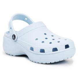Klapki Crocs Classic Platform Clog W 206750-4JQ niebieskie