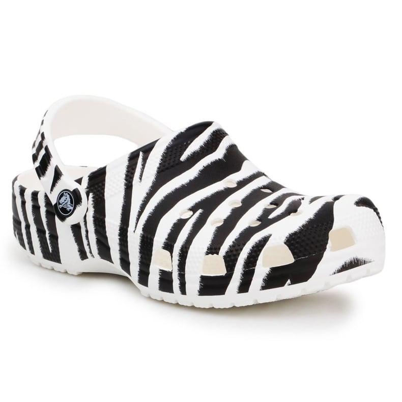 Klapki Crocs Classic Animal Print Clog W 206676-1DE białe czarne
