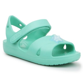Sandały Crocs Classic Cross Strap Charm K 206947-3U3 niebieskie