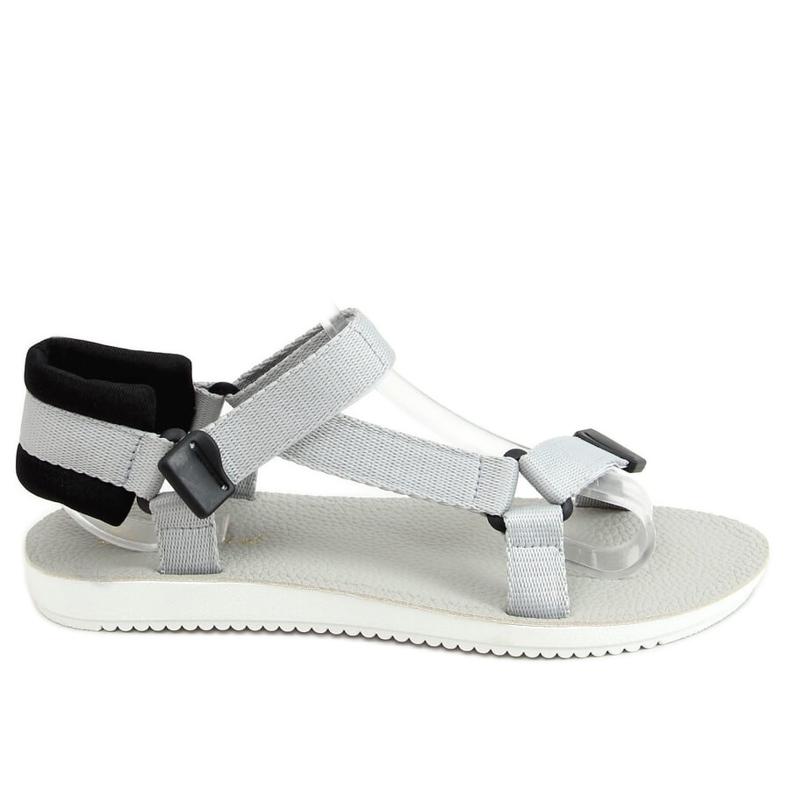 Sandałki sportowe na rzepy szare N-67 Grey