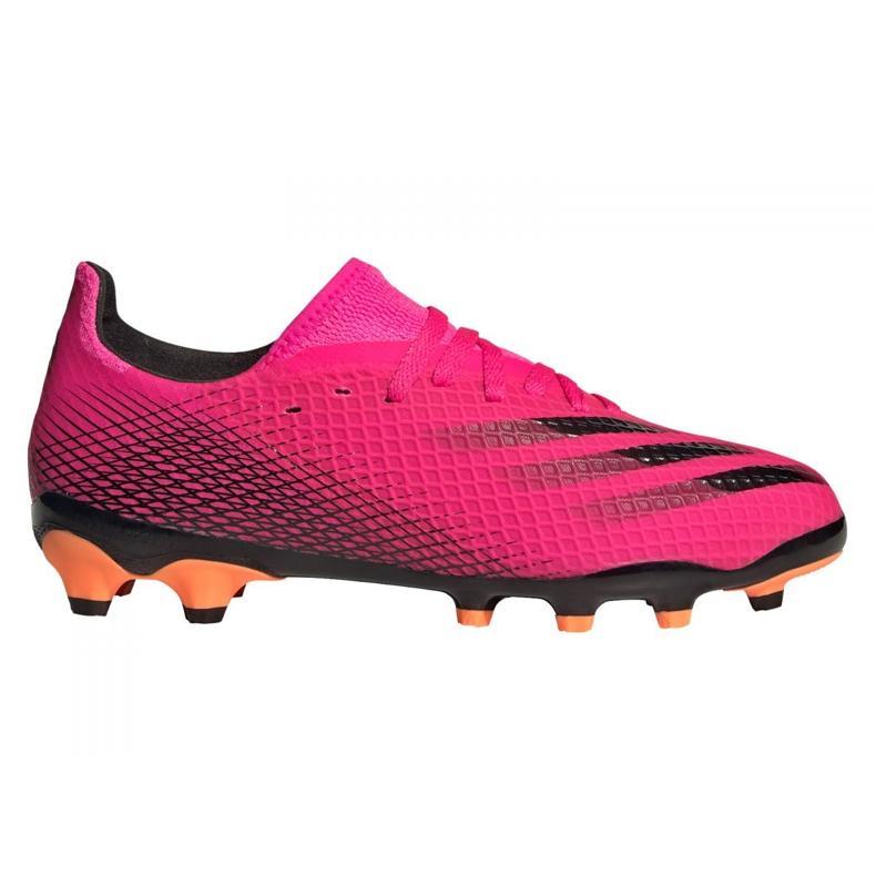 Buty piłkarskie adidas X Ghosted.3 Mg Jr FY1093 różowe grafitowy, różowy