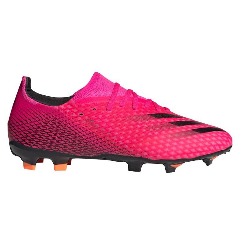 Buty piłkarskie adidas X Ghosted.3 Fg M FW6945 różowe grafitowy, różowy
