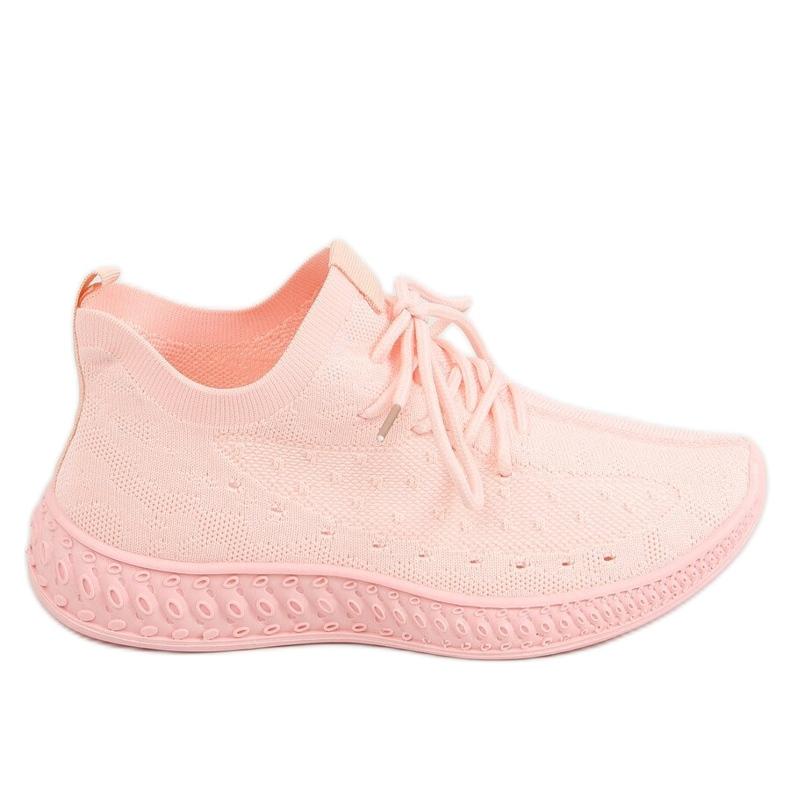 Buty sportowe skarpetkowe różowe 7819 LT.PINK