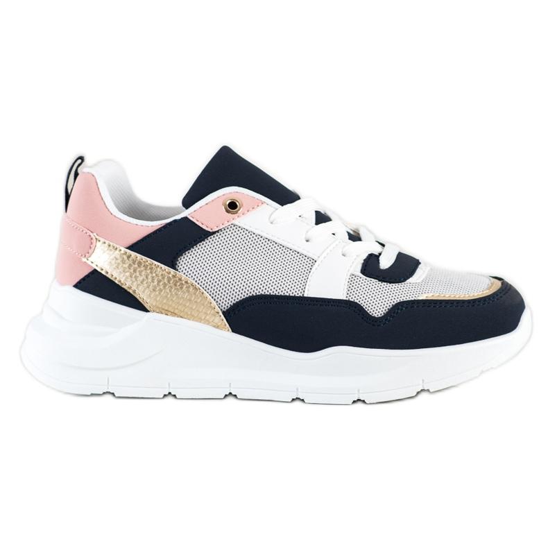 SHELOVET Stylowe Sneakersy Z Siateczką wielokolorowe