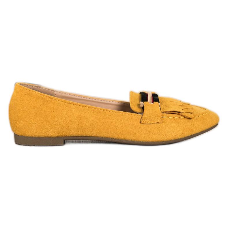 Anesia Paris Stylowe Mokasyny żółte
