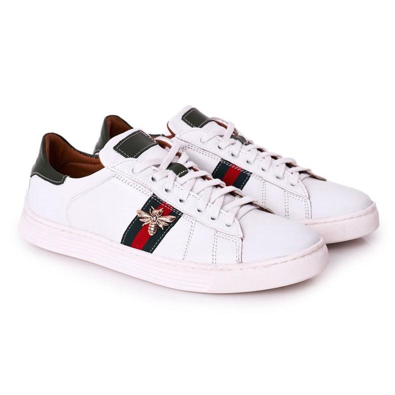 Bednarek Polish Shoes Męskie Skórzane Półbuty Tenisówki Bednarek Białe