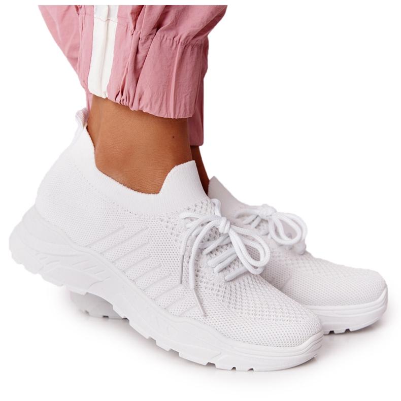 PS1 Damskie Sportowe Buty Sneakersy Białe Ruler