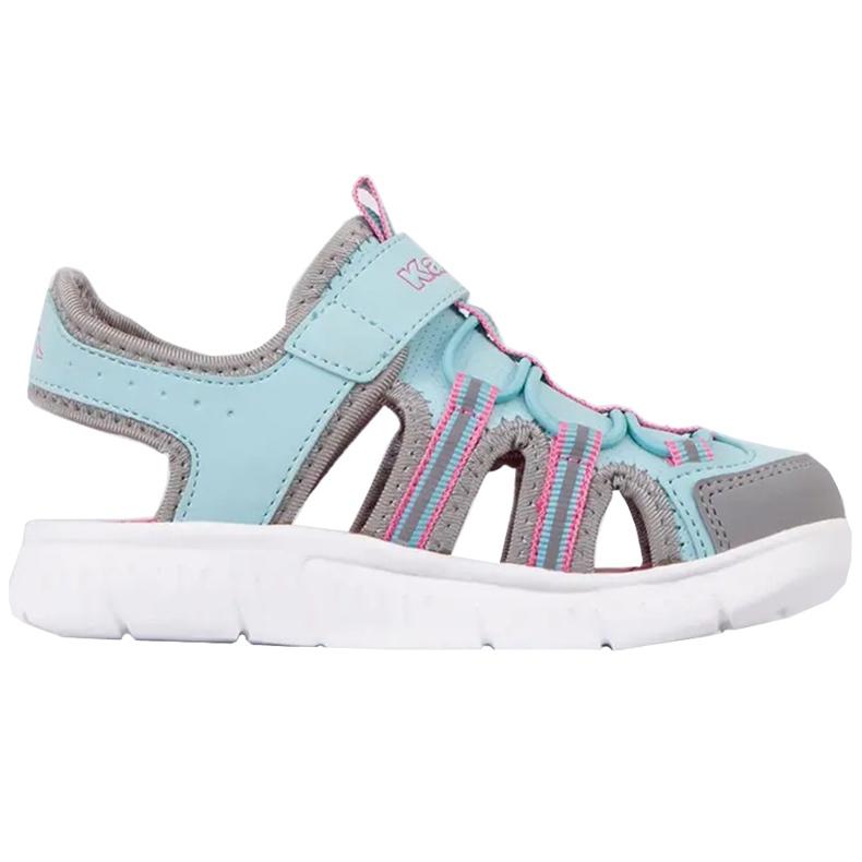 Buty dla dzieci Kappa Kyoko niebiesko-szare 260884K 6316 niebieskie różowe
