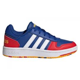 Buty adidas Hoops 2.0 Jr FY7016 granatowe niebieskie
