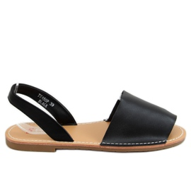 Sandałki damskie czarne TU150P Black