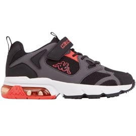 Buty dla dzieci Kappa Yero czarno-szaro-koralowe 260891K 1129 czarne czerwone szare