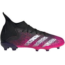 Buty piłkarskie adidas Predator Freak.3 Fg Jr FW7530 biały, czarny, różowy różowe