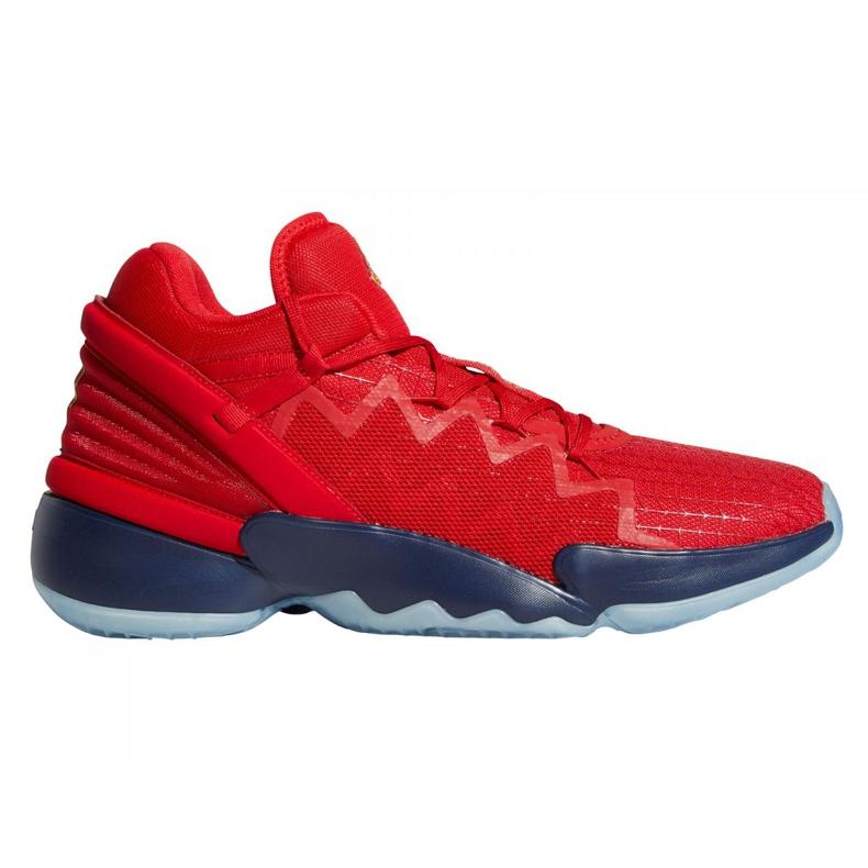 Buty do koszykówki adidas D.O.N. Issue #2 M FX6519 wielokolorowe czerwone