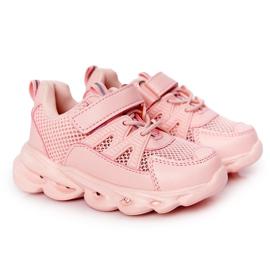 Dziecięce Sneakersy Ze Świecącą Podeszwą Led Różowe So Cool!
