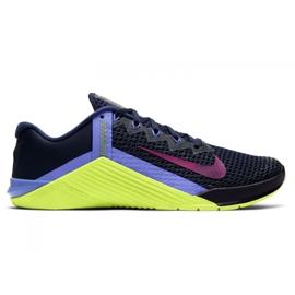 Buty treningowe Nike Metcon 6 W AT3160-400 czarne wielokolorowe zielone