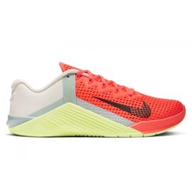 Buty treningowe Nike Metcon 6 W AT3160-800 pomarańczowe wielokolorowe