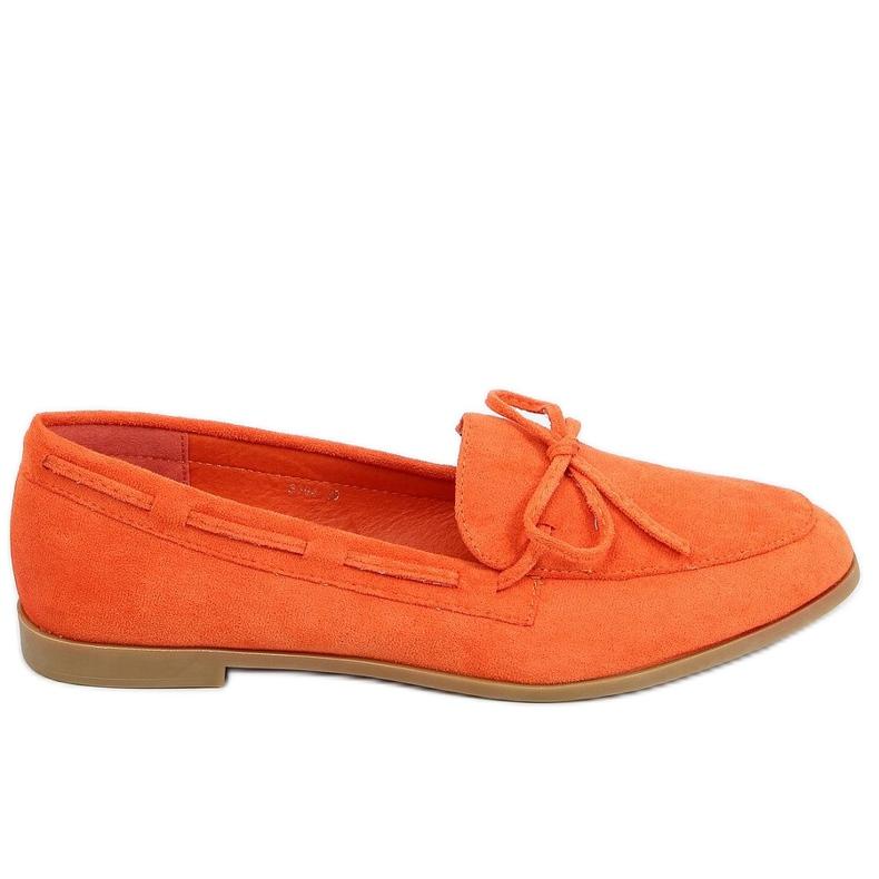 Mokasyny damskie klasyczne pomarańczowe 3394 Orange