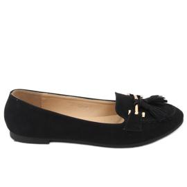 Mokasyny damskie czarne 99-08A Black