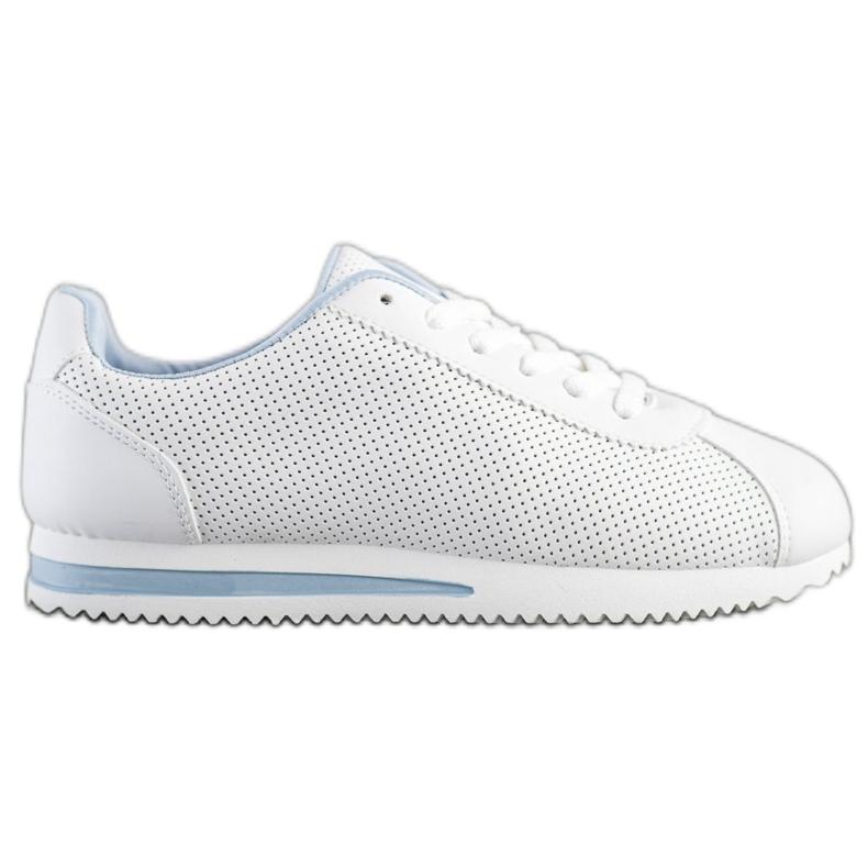 SHELOVET Stylowe Ażurowe Sneakersy białe
