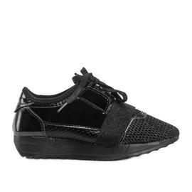 Czarne sneakersy dziecięce Kelli