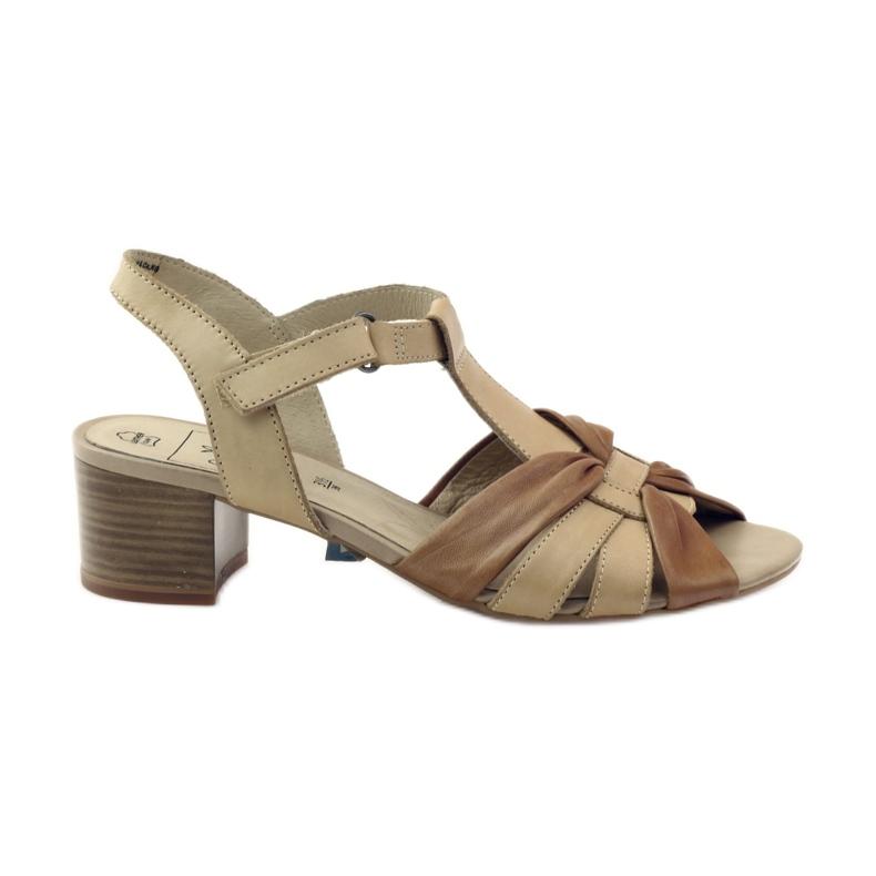 Caprice sandały buty damskie 28205 brązowe