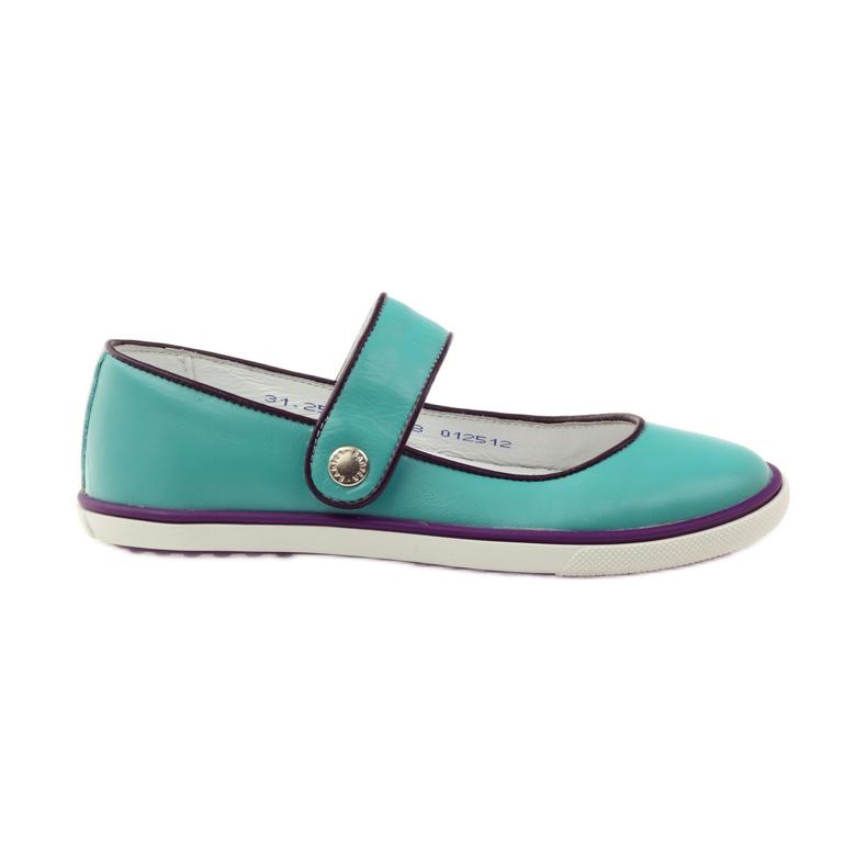 Balerinki buty dziecięce Bartek 28368 turkusowe zielone fioletowe białe