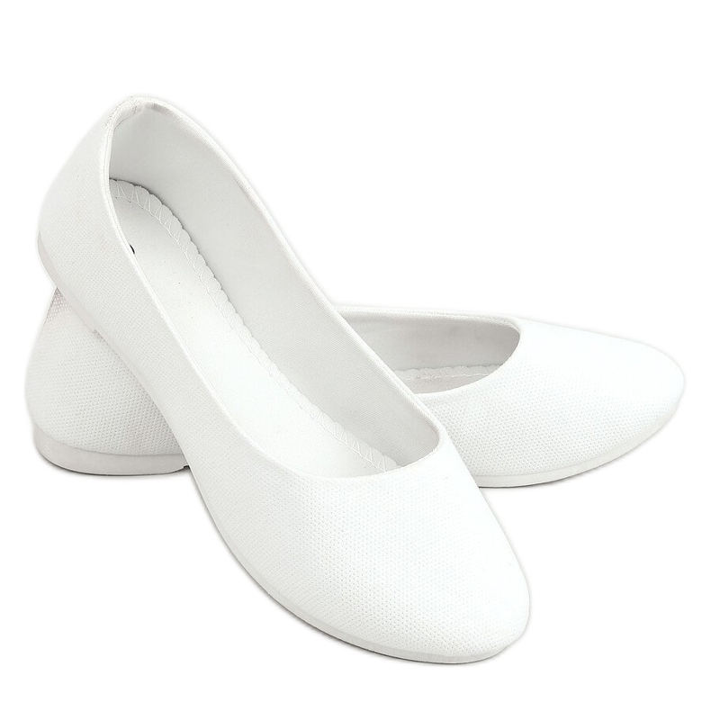 Balerinki damskie białe JX38 White