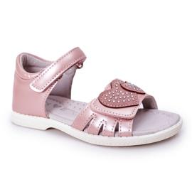 PE1 Dziecięce Sandałki Na Rzep Różowe My Heart