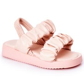 FR1 Dziecięce Sandały Ze Ściągaczem Różowe Sweetness