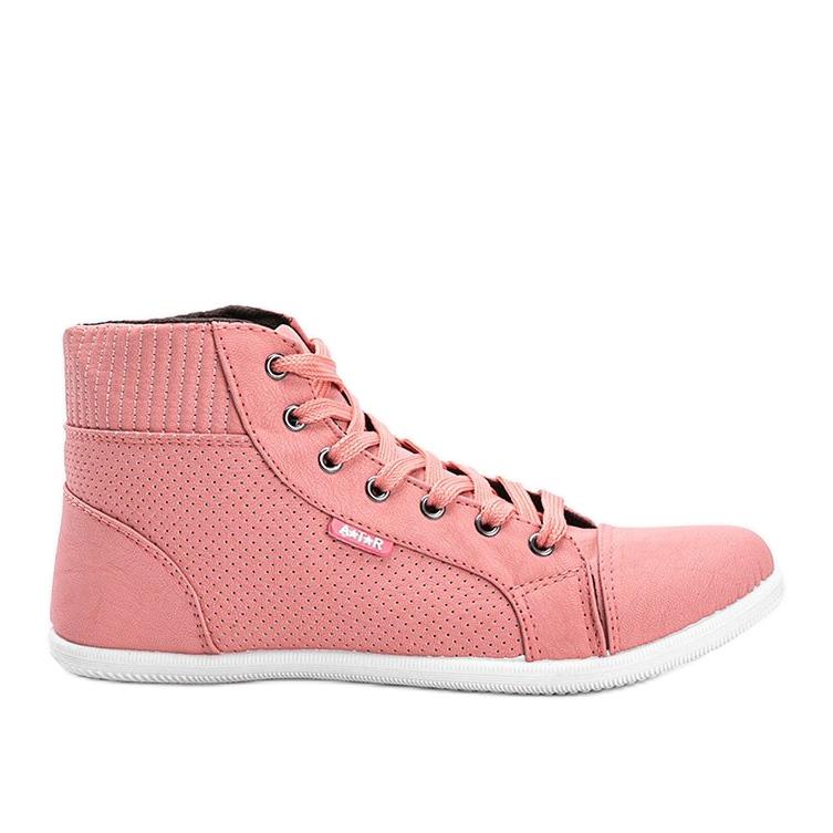 Różowe sneakersy za kostkę Feel This