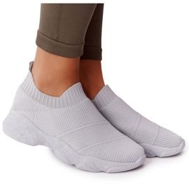PS1 Damskie Sportowe Buty Slip-on Szare Yoga Class