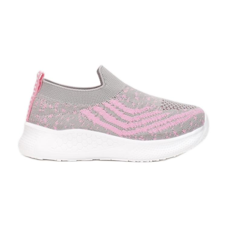 Vices C-9139-153-grey/pink różowe szare