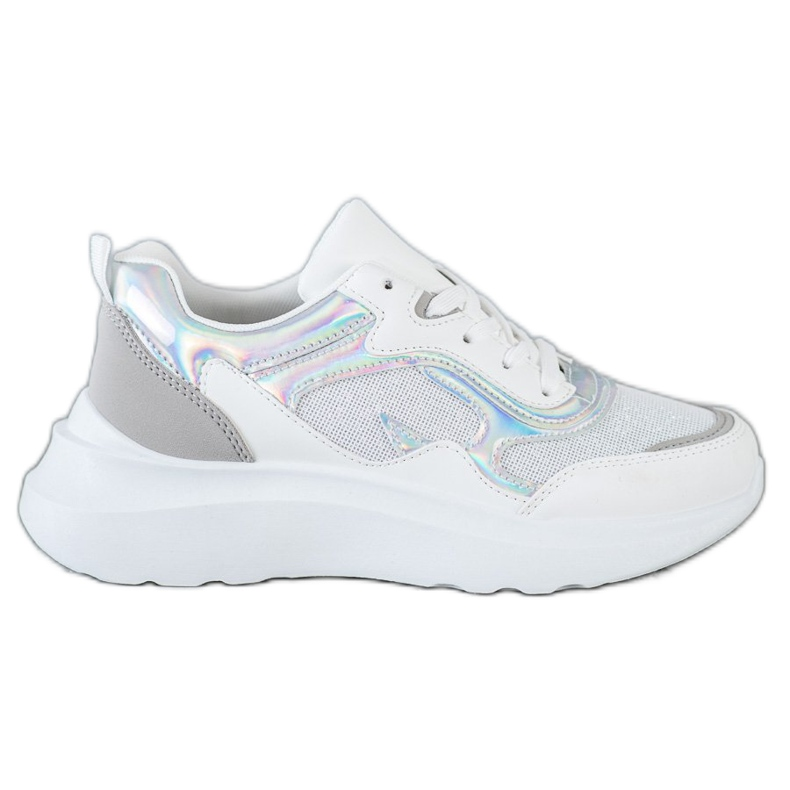 Sweet Shoes Sneakersy Z Brokatem białe
