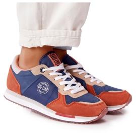 Damskie Sportowe Buty Memory Foam Big Star HH274567 Niebiesko-Pomarańczowe niebieskie