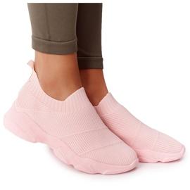 PS1 Damskie Sportowe Buty Slip-on Różowe Yoga Class
