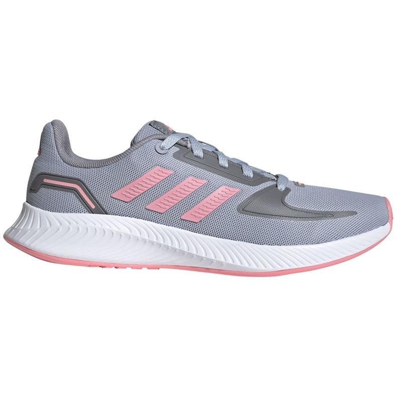 Buty dla dzieci adidas Runfalcon 2.0 K szaro-różowe FY9497 szare