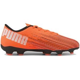 Buty piłkarskie Puma Ultra 4.1 Fg Ag Jr 106100-01 pomarańczowe wielokolorowe