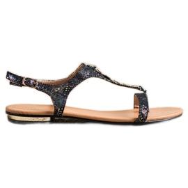 Sandałki Ze Złotymi Ozdobami VINCEZA czarne