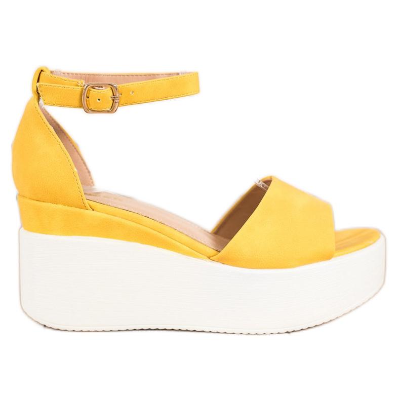 Comer Lekkie Sandały Na Platformie żółte