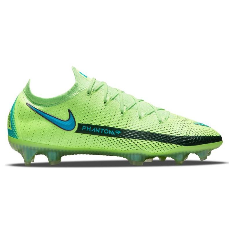 Buty piłkarskie Nike Phantom Gt Elite Fg M CK8439 303 wielokolorowe zielone