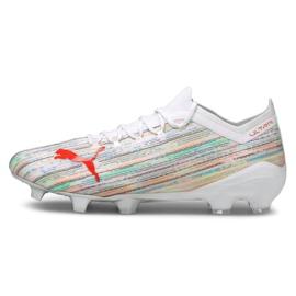 Buty piłkarskie Puma Ultra 1.2 Fg / Ag M 106299-04 wielokolorowe białe