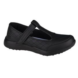 Buty Skechers Microstrides-School Trendz Jr 85716L-BBK czarne niebieskie