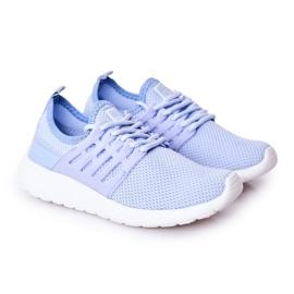 Dziecięce Sportowe Buty Sneakersy Big Star HH374214 Jasnoniebieskie